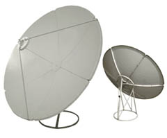 Digiwave 1.8m prime focus satellite dish